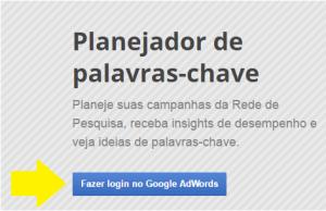 Google Keyword Planner - passo 1