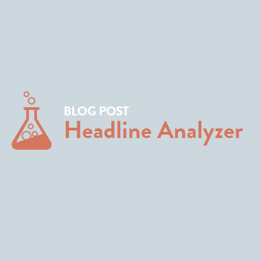 Blog Post Headline Analyzer by CoSchedule