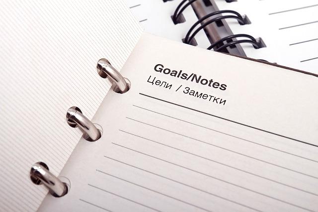 Tenha objetivos e metas, planeje cada um