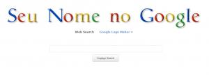 goglogo alterando a logo do Google e montando uma semelhante