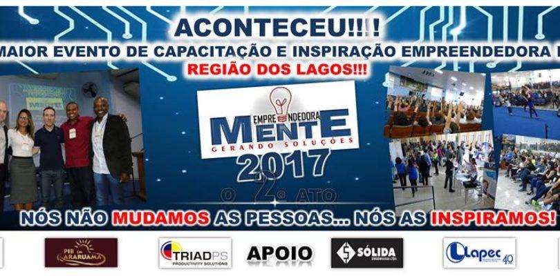 O Empreendedoramente Gerando Soluções 2017 aconteceu em Araruama/RJ