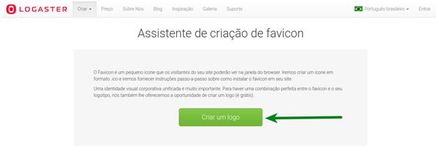 Assistente de criação de favicon online